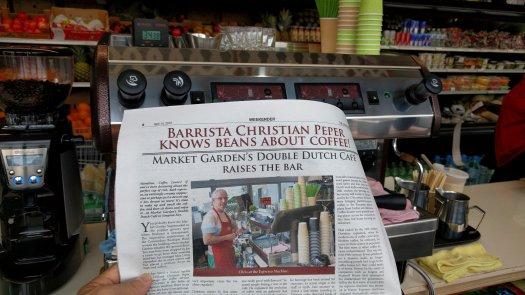 newspaper article barista christian peper
